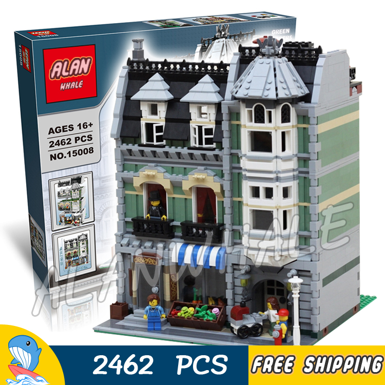 2462pcs Creator Expert Green Grocer Hall Apartments Construct 30005 Model Modular Building Blocks Toy Brick Compatible with Lego a toy a dream lepin 15008 2462pcs city street creator green grocer model building kits blocks bricks compatible 10185