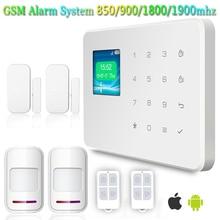 G18 433 МГц Высокое Качество 2 шт. Дверные Датчики Инфракрасные Детекторы Главная Охранная Безопасности GSM Сигнализация TFT Dispaly Сенсорный клавиатура