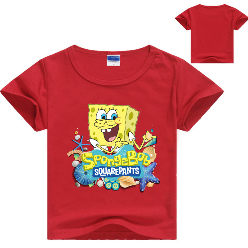 ALI shop ...  ... 33004512064 ... 4 ... Cartoon Sponge Bob T Shirt Boys Girls 2018 Summer Children's Clothing Cotton Toddler Girl Tops Tee Boy Kids T-shirt 3-14Y ...