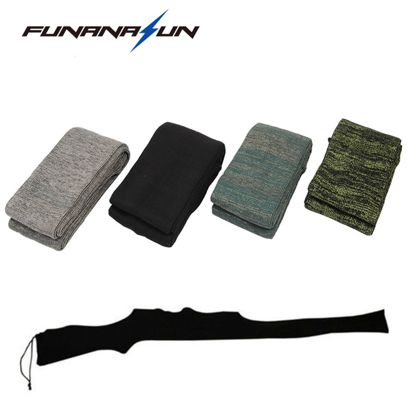 "54 ""Rifle Knit Air Gun Sock Polyester Silicone Treated Rifle Protector Shotgun Cover Case Storage Sleeve Firearm Fabric"