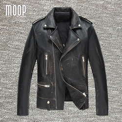 Vintage genuine leather jacket men cow leather motorcycle jackets cowskin real leather coats veste cuir homme.jpg 250x250