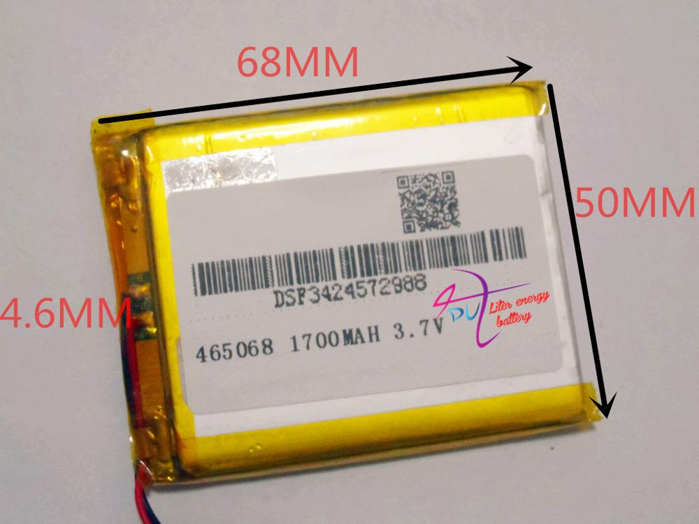 best battery brand Size 465068 3.7V 1700mah Lithium polymer Battery with Protection Board For GPS HC-toys Digital Product Free S