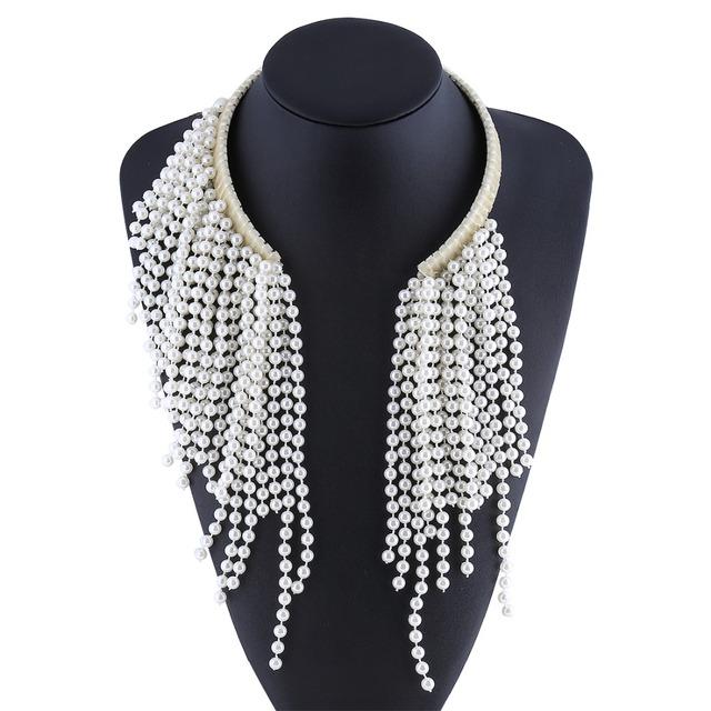 Tessal Mujeres Collar de Perlas Collar de Perlas Collar de la Declaración Gargantillas Collares Collares 2016 Joyería de Perlas Torques