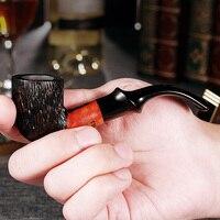 2019 ADOUS NEW Bruyere cigarette pipes Cigar 9mm Log Handmade Portable Smoking tobacco Gentleman gift cigarette AS963
