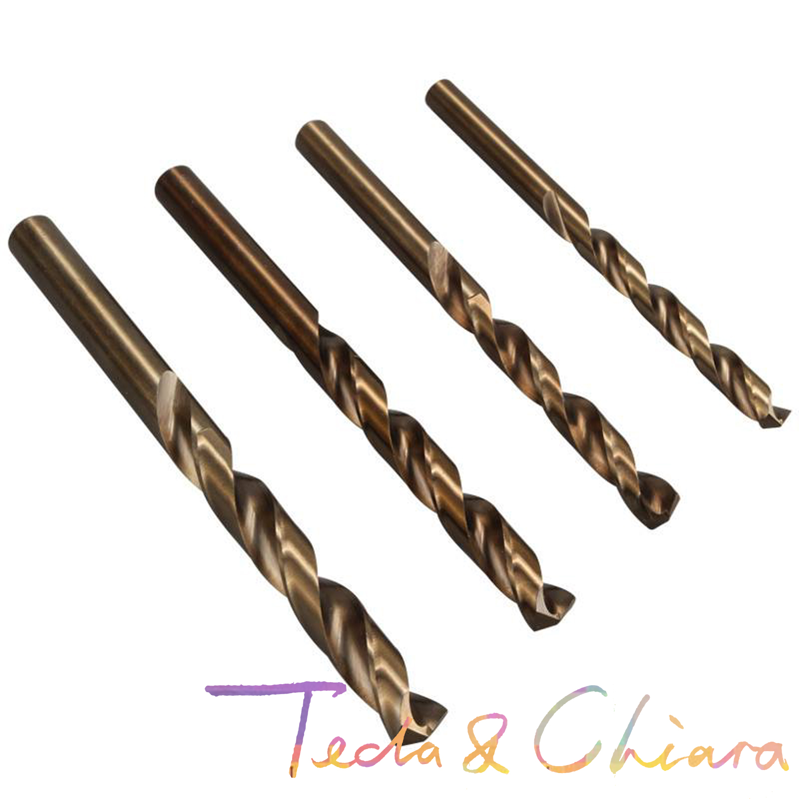 10Pcs 2 2.0 2.1 2.2 2.3 2.4 2.5 2.6 2.7 2.8 2.9 Mm HSS-CO M35 Cobalt Steel Straight Shank Twist Drill Bits For Stainless Steel