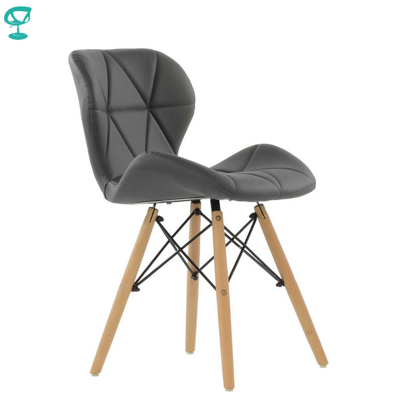 95284 Barneo N 42 Eco Skin Wood Kitchen Breakfast Interior Stool Bar Chair Kitchen Furniture Gray free shipping in Russia|  - title=