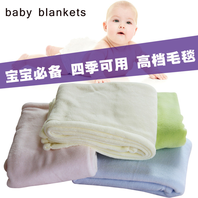 High Quality 4 Colors Super Soft Coral Fleece Blanket Baby Wrap Swaddle,Winter Baby Bedding Fluffy Blankets  Wholesale