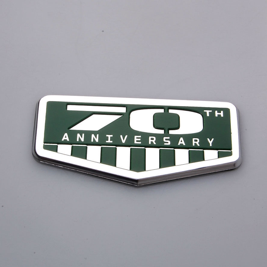 BBQ@FUKA 1pcs Aluminium 70th Anniversary Car sticker for Jeep Wrangler Grand cherokee Cherokee patriot compass car Emblem Badge yuzhe auto automobiles leather car seat cover for jeep grand cherokee wrangler patriot compass 2017 car accessories styling