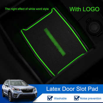 QHCP Latex Car Gate Slot Mat Door Groove Anti-slip Door Pad Coasters Car Interior Accessories For Subaru Forester 2019 17Pcs/Set