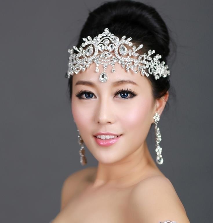bride tiara head chain hair jewelry