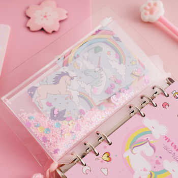 JIANWU 2019 NEW unicorn cute notebook girl pink binder set creative Multifunctional Diary kawaii Journal