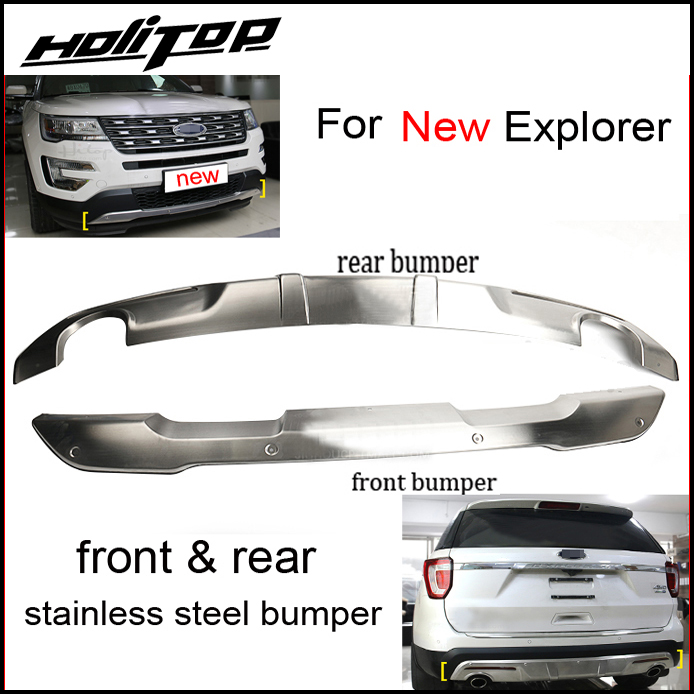 New arrival front rear bumper skid plate for Ford old new Explorer 2011 2018 stainless steel