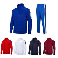 2 Pcs Soccer Uniforms Customize Football Sets Training Running Suits Long Sleeve Goalkeeper Plus Size Zipper Clothes