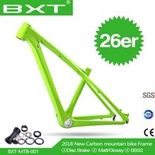 Бесплатная доставка Китайская углеродная детский горный велосипед рама 26er 14/16 дюймов детей 26 MTB рама с гарнитура + зажим + BB92