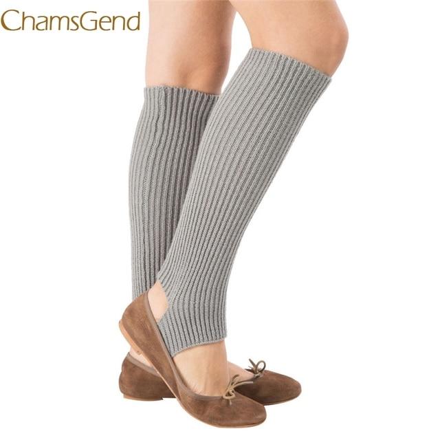 Chamsgend Leg Warmers Hot Sell Women Knitted Long Socks Boot Cover