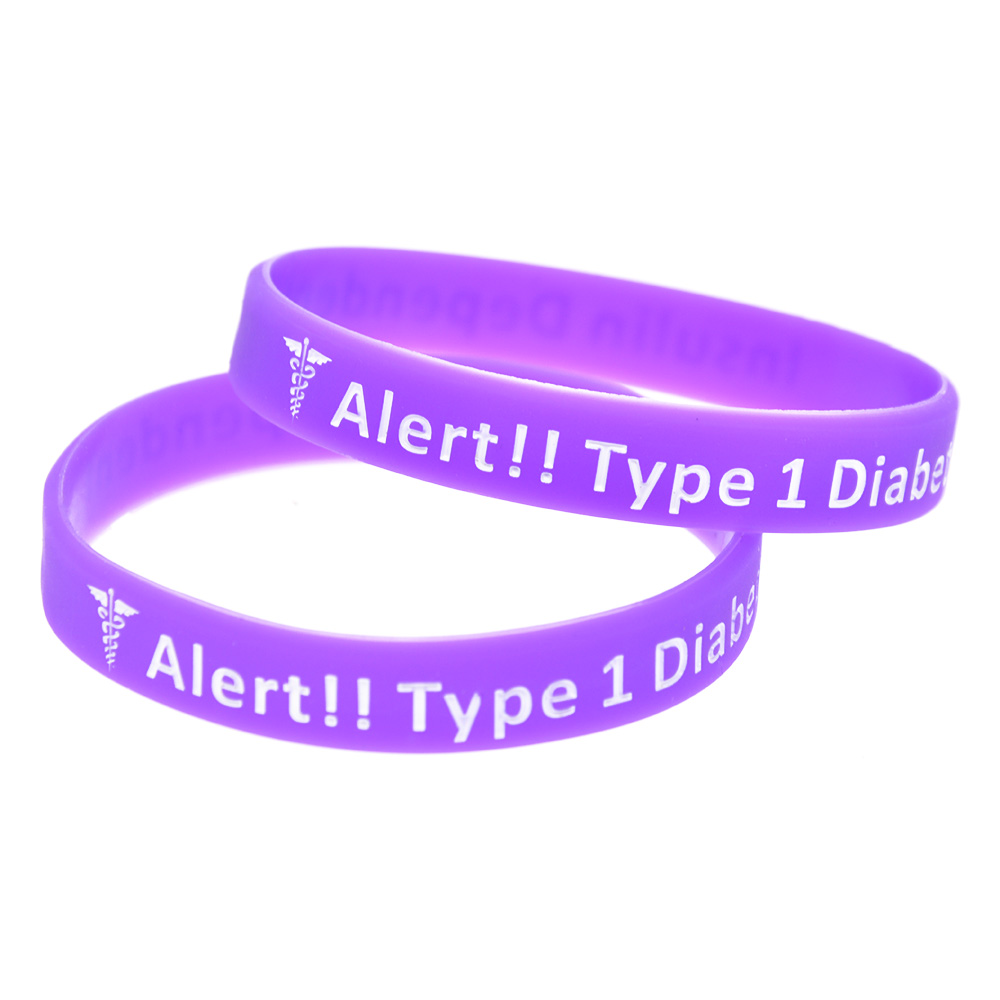OBH 50PCS Type 1 Diabetes Insulin Dependent Silicone Bracelet