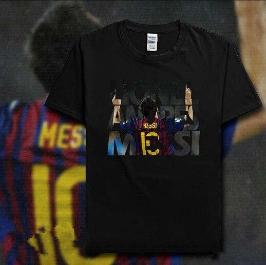 575a60f15 HOT Men s Short sleeve t-shirt Lionel Messi figure autograph Barcelona Camp  Nou Champion jersey Argentina