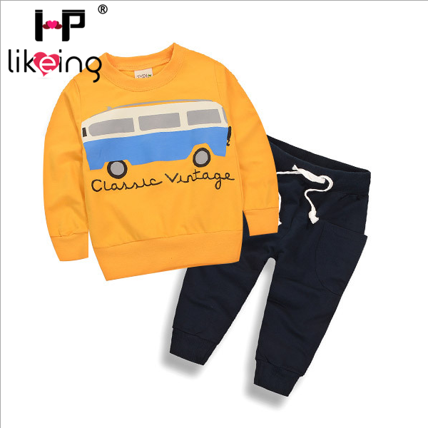 Children Clothing HPlikeing Baby Boys Children's Set Sport Suit Cartoon Hoodied and Pants Set Fashion Kid Clothes for Boy 2pcs set baby clothes set boy