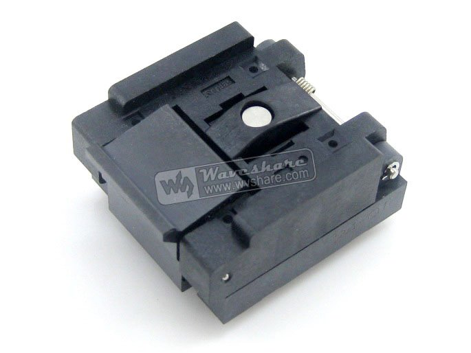 QFN24 MLP24 MLF24 QFN-24B-0.5-01 QFN Enplas IC Test Burn-in Socket Programming Adapter 0.5mm Pitch qfn20 mlp20 mlf20 qfn 20b 0 5 01 qfn enplas ic test burn in socket programming adapter 4x4mm 0 5mmmpitch