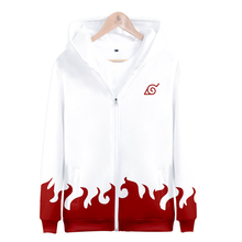 BTS Naruto Harajuku 3D Autumn Hoodies Long Sleeve Sweatshirts Fashion Cartoon Zipper Hooded Men Clothes 2018 Hip Hop Casual 4XL