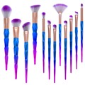 12 pcs Escova da Composição Fio Rainbow Unicorn Professional Make Up Brushes set Blending foundation Pó sobrancelha Pincel delineador
