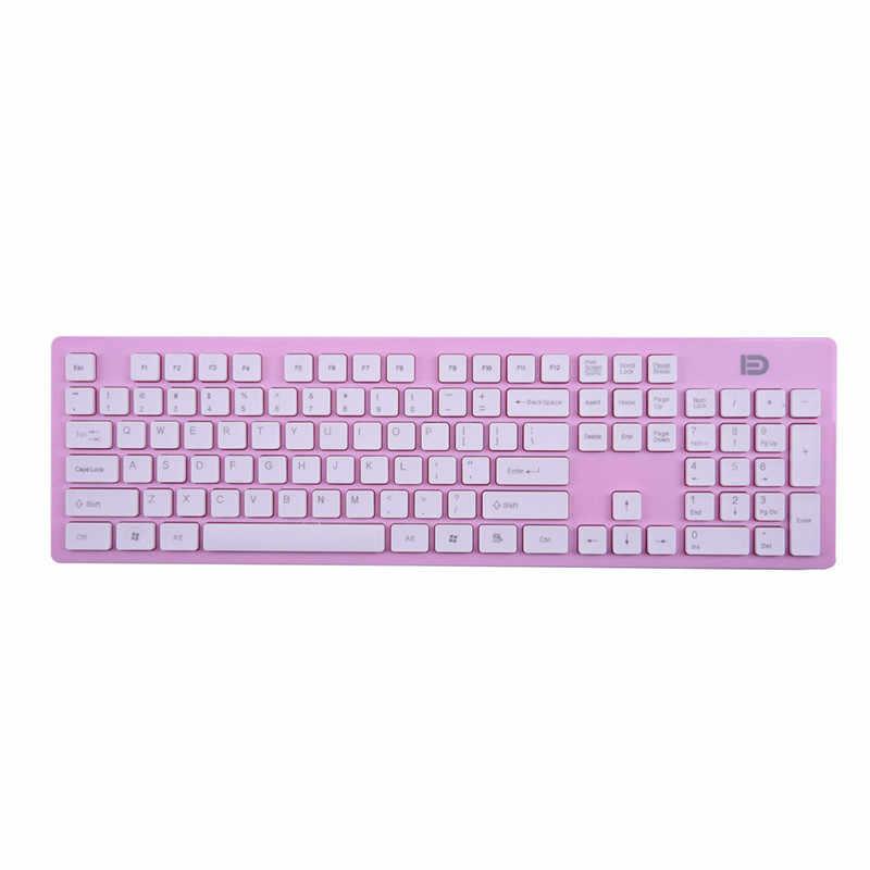 ピンク黒ユニバーサル Silm ワイヤレスマウスキーボードセット 1200 dpi 光学式マウス用の usb レシーバーとデスクトップコンピュータノートブック