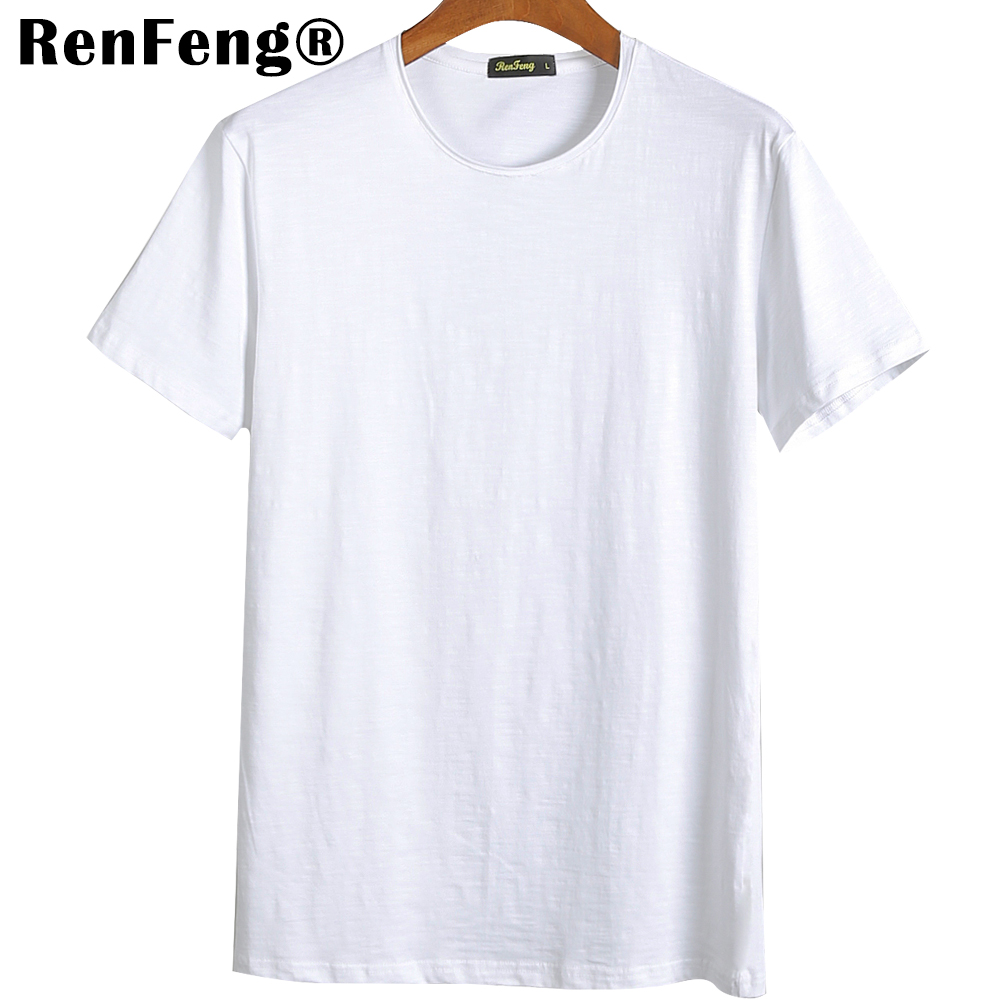 Blank T-Shirt Men T Shirt Short Sleeve Tshirts Solid Bamboo Fiber Homme Tee Shirt For Men 3XL Hot Sale Summer Clothes Colorful (4)