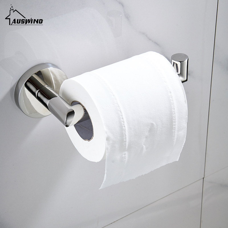 Modern Polished Tissue Paper Holder Roll Holder No Cover 304 Stainless Steel Chrome Toilet Paper Holder Bathroom Accessories Ku3 free shipping durable stainless steel toilet paper holder tissue holder roll paper holder box bathroom accessories