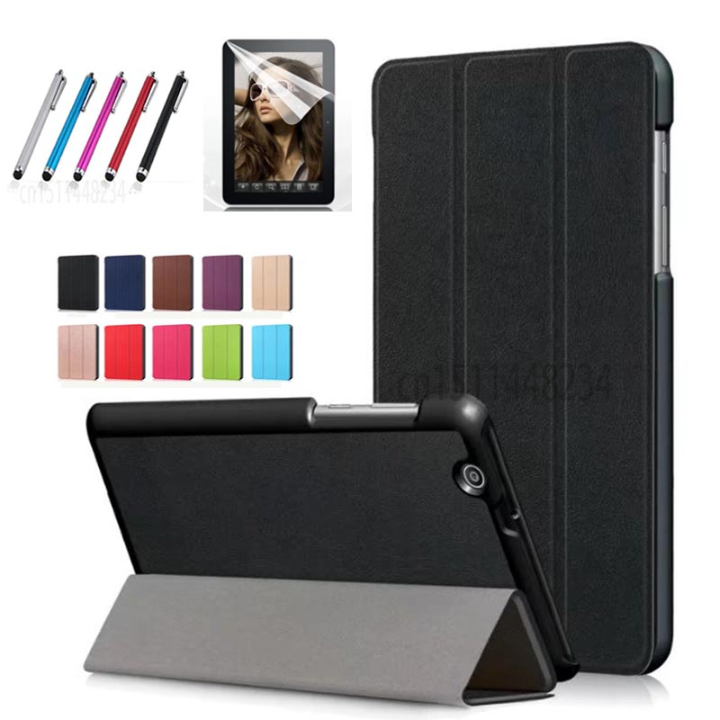 Stylus+film+ Slim Magnetic Folding Case cover For Huawei MediaPad T3 7 3G BG2-U01 stand case For Huawei MediaPad T3 7 3G BG2-U03