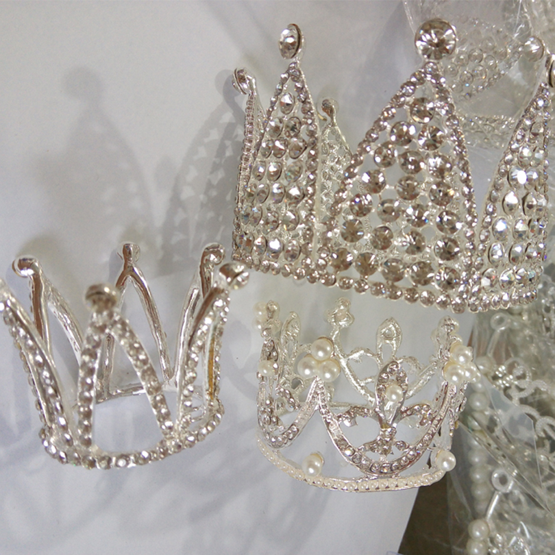 Crown Designs Wedding Tiara Diamante Crystal Rhinestone Hair Combs