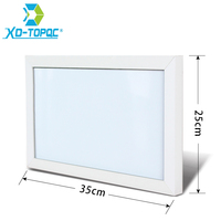 XINDI 25 35cm MDF Wood Frame Magnetic Whiteboard Erasable White Board 5 Colors Dry Erase Board