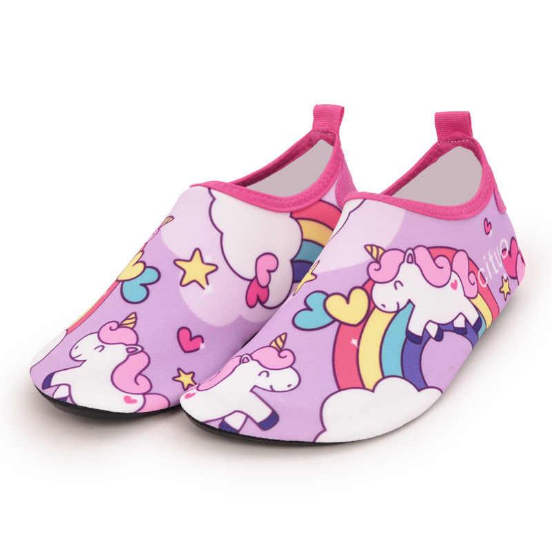 ילדי חוף נעלי מים גרבי בני ובנות בית נעליים חיצוני שחייה צלילה שנורקל נעלי קריקטורה חמודה ילדי נעלי בית