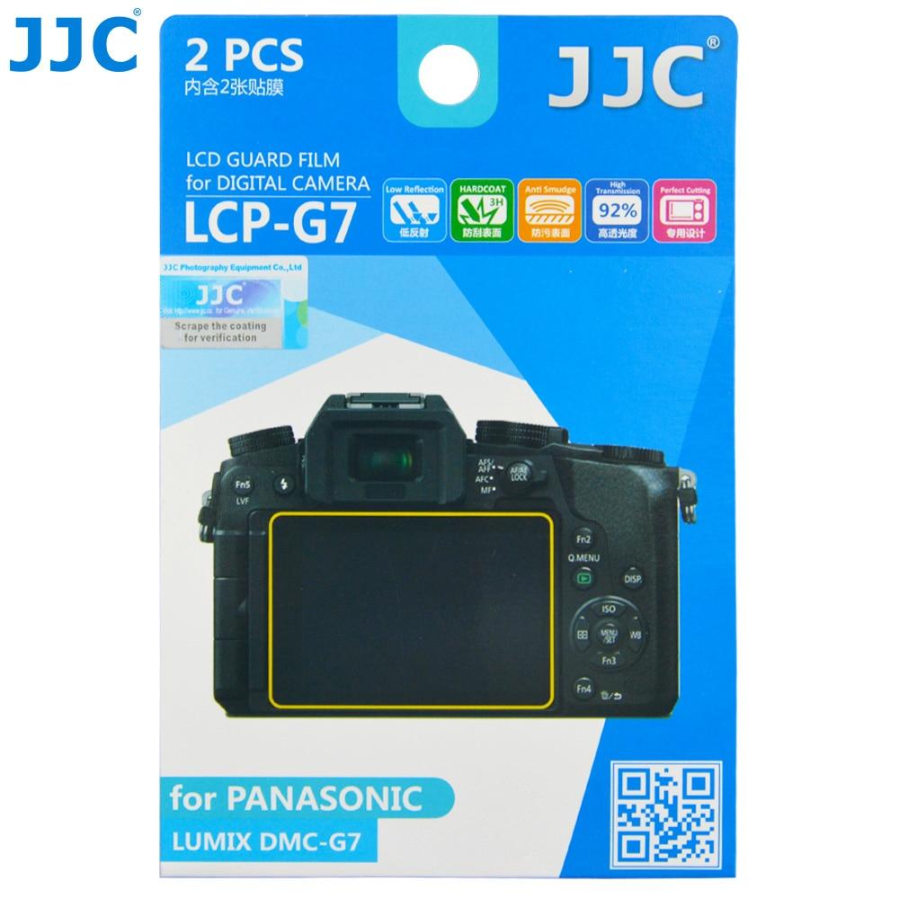 JJC LCP-G7 Camera Display Cover LCD Guard Film Screen Protector (2 Kits) For PANASONIC Lumix DMC-G7,GX7 Mark II,DMC-G8,G80,G85