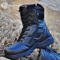 Full Season Military Uniform Boots Cowhide Genuine Leather Tactical Desert Combat Boats Mens Special Force Outdoor Shoes
