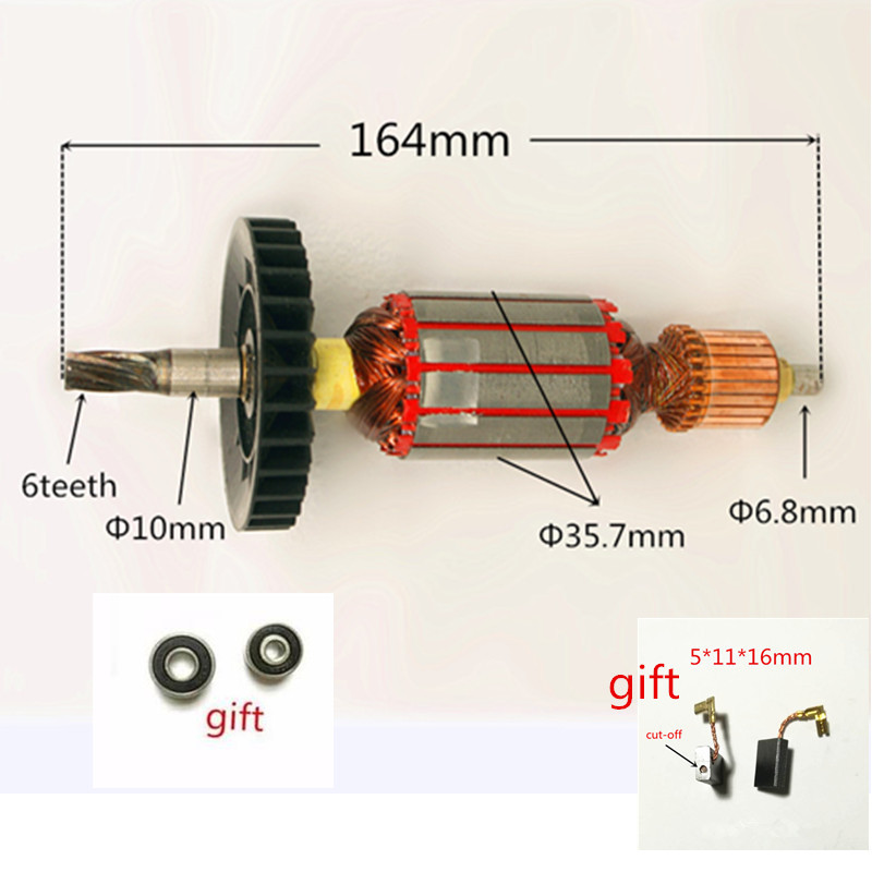 AC 220-240V Rotor Motor Armature Replacement for MAKITA HR2470 HR2470F HR2460 HR2460F Rotary Hammer ac 220 240v armature motor rotor replacement for bosch gbm500re gsb450re psb400re gsb13re gbm400re armature parts engine