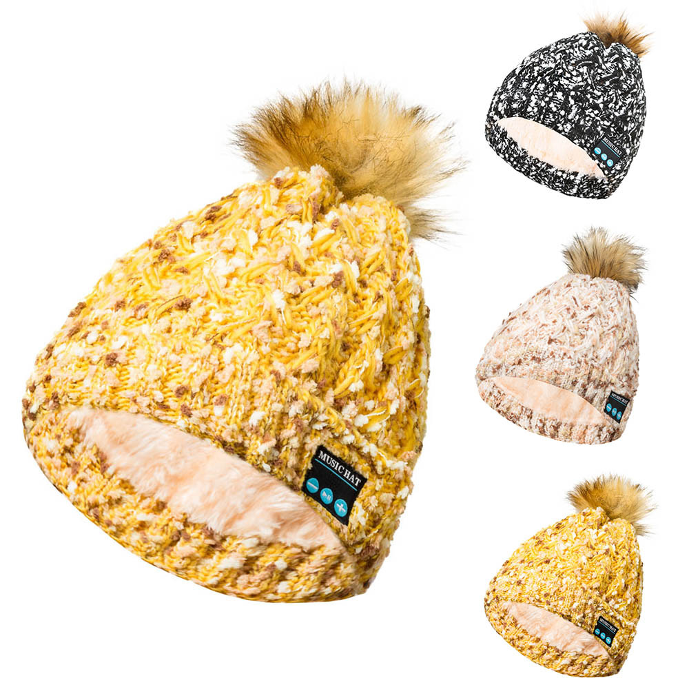 dc7dc087086 Detail Feedback Questions about KANCOOLD Fashion Women Bluetooth Wireless Cap  Knit Baggy Warm Hat Crochet Winter Ski Beanie Caps Handsfree Music Speaker  ...