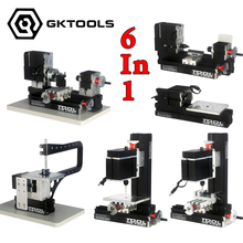 12000r/min 60W Powerfull All-Metal 6 in 1 Mini Lathe ,Milling ,Drilling ,Wood Turning ,Jag Saw and Sanding Machine, DIY Tool