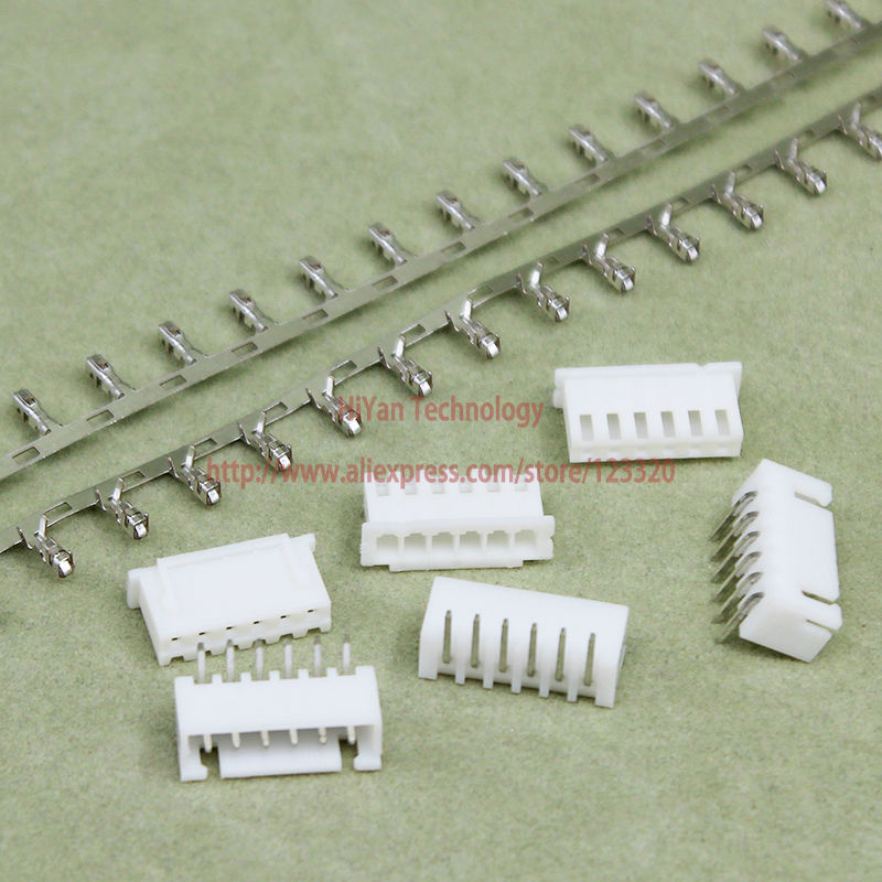 (100sets/lot) Connector XH2.54 6Pin 90degrees Pitch:2.54MM 0.1inch 6AW Pin Header + Term ...