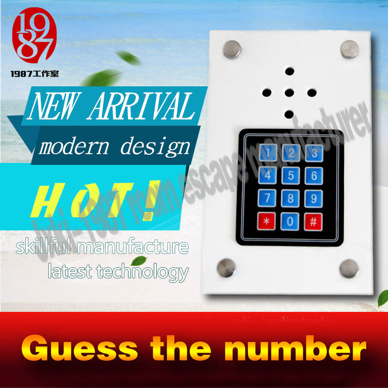Takagism game prop, new chamer live escape Real life room escape props jxkj-1987 guess the number to open door guessing prop