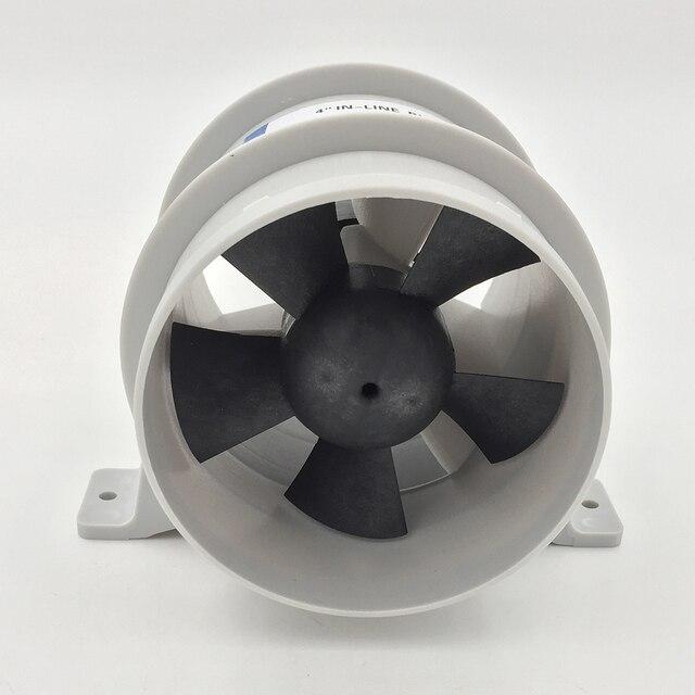 高エアフロー 4 インチインラインビルジ静音送風機 12 Volt 4inch 径。ホース Ventilador silencioso 沈黙海洋ポンプ