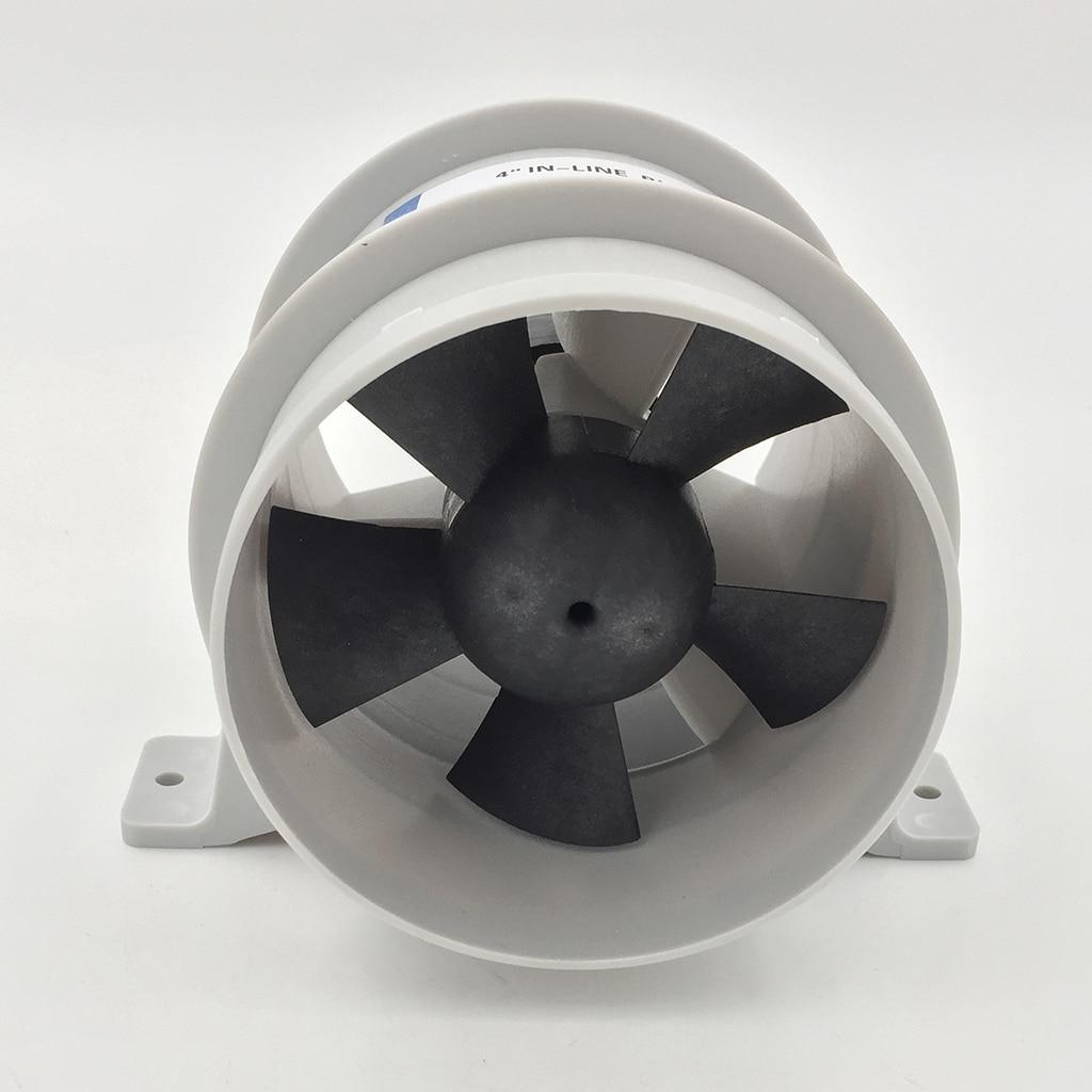 High Air Flow 4 Inch In-Line Bilge Quiet Blower 12 Volt-4inch Dia. Hose Ventilador Silencioso Silence Marine Pump