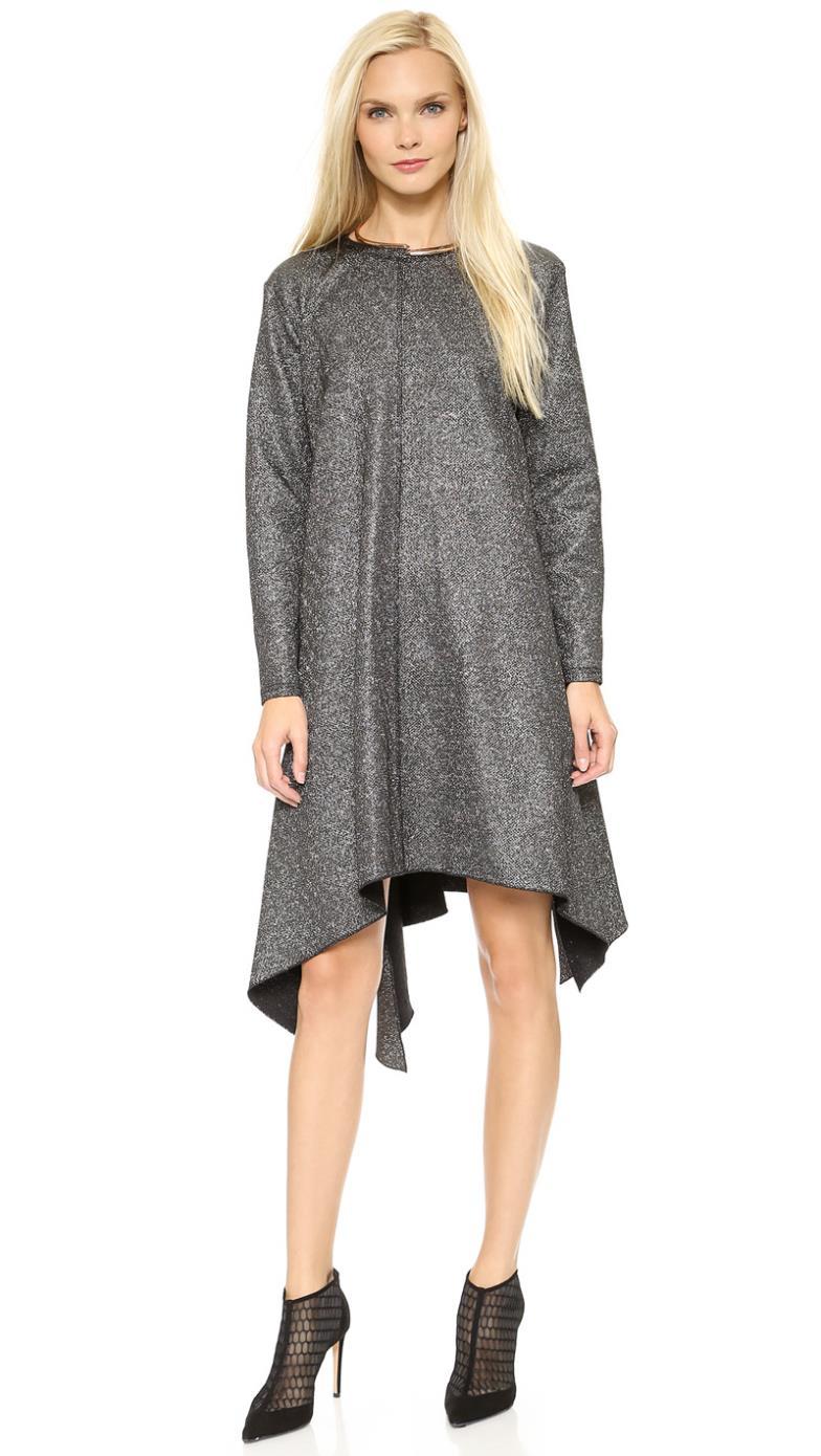 Metallic Silver Plus Size Dresses