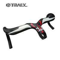 New Compact Type 3K Full Carbon Bicycle Handlebars And Stem Integrated Road Bicycle Carbon Handlebar 400