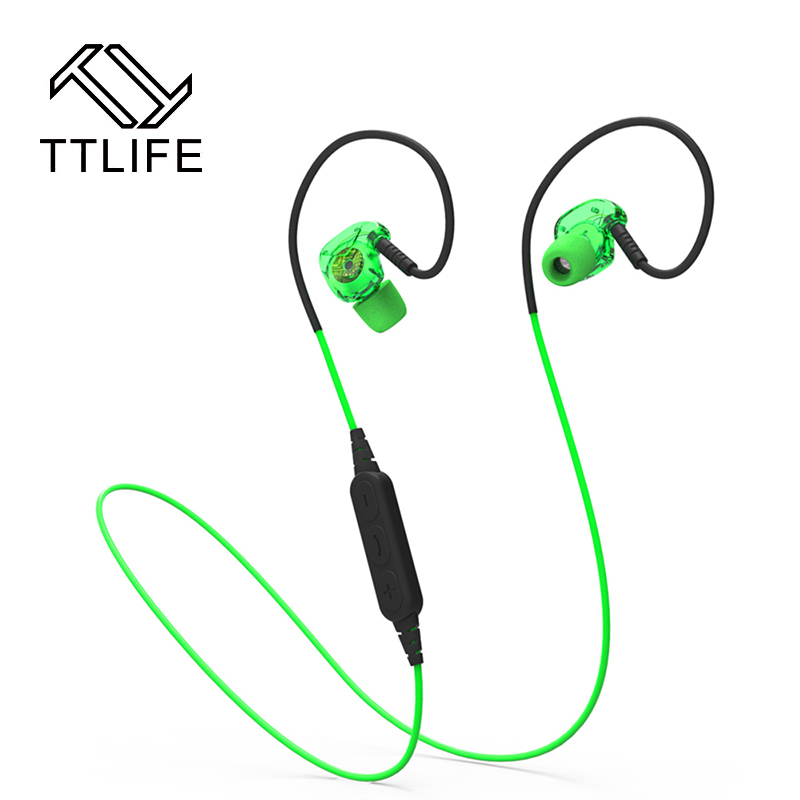 TTLIFE Bluetooth Sport Wireless Earphone Headband Running Headphones Stereo Super Bass Ear Hook with Mic Headset For Phone ttlife bluetooth earphone
