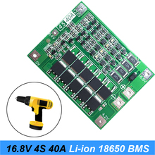 цена на 4S 40A  18650 Li-ion Lithium Battery Charger PCB BMS Protection Board with Balance For Screwdriver 14.8V 16.8V Lipo Cell Module