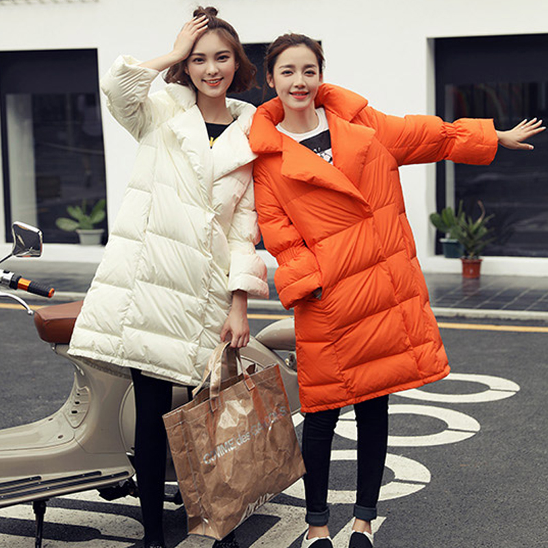 Down Parka 2018 New Brand Womens Down Jackets 90% White Duck Down Coat Thickening Warm Parkas For Female Winter Jacket Coats