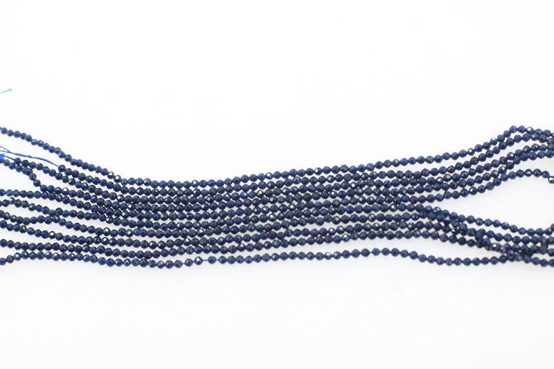 5 stränge lose perlen tiefe blau spinell 2mm faceted runde natur 14 zoll FPPJ großhandel für DIY