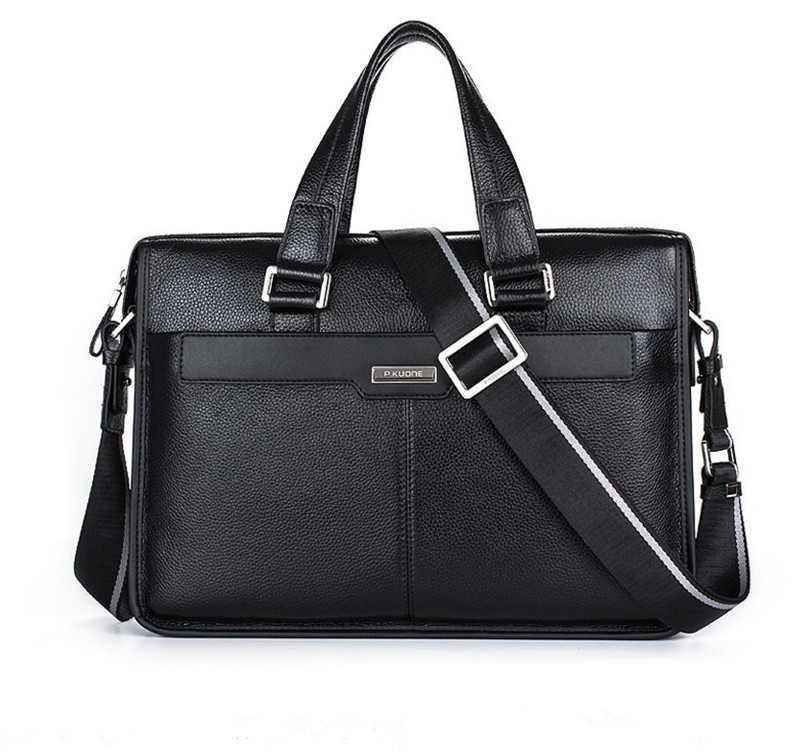 100% Original Marke Rindsleder Männer Aktentaschen Berühmte Designer Echtem Leder Handtaschen Männer Laptop Tasche Echt Leder Schulter Tasche