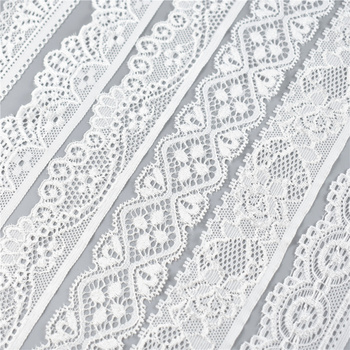 5Yard/Lot High Quality White Elastic Lace Ribbon Trims Underwear Lace Trim Embroidered For Sewing Decoration african lace fabric 1