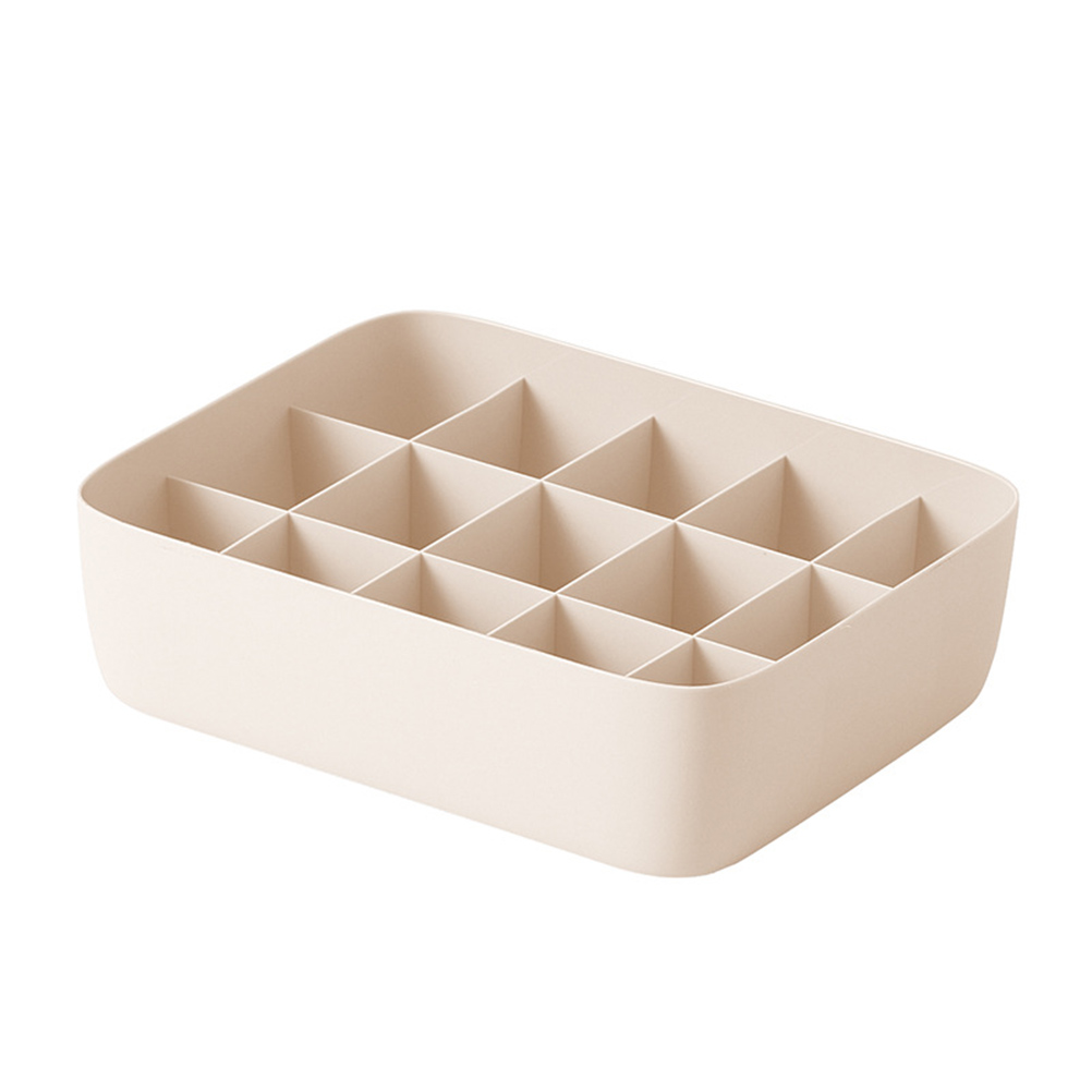 Underwear Storage Box Plastic Storage Basket Stackable Storage Container with 15-Compartment Divider for Bra Panties Socks(China)